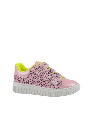 Kids A More Berry Çift Cırtlı Pu Deri Simli Kız Çocuk Ayakkabı  Pembe